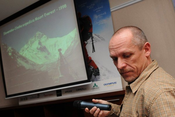 Slovenský horolezec Peter Hámor na fotke z roku 2008.