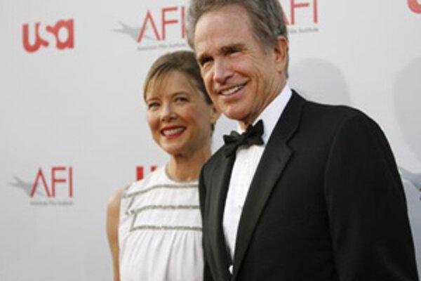 Warren Beatty a jeho manželka Annette Bening.