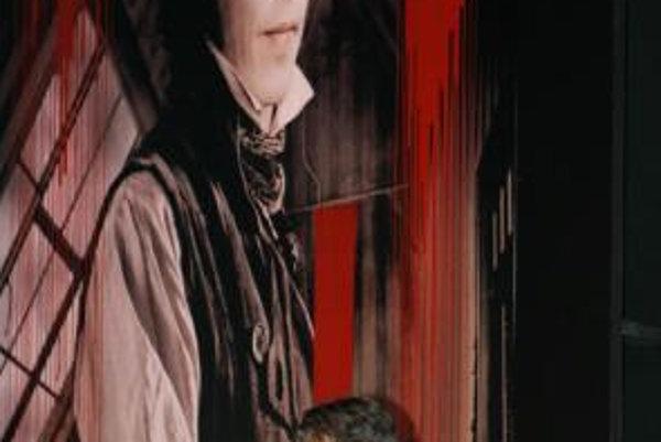 Johnny Depp v príhovore na premiére svojho najnovšieho filmu Sweeney Todd: The Demon Barber of Fleet Street.