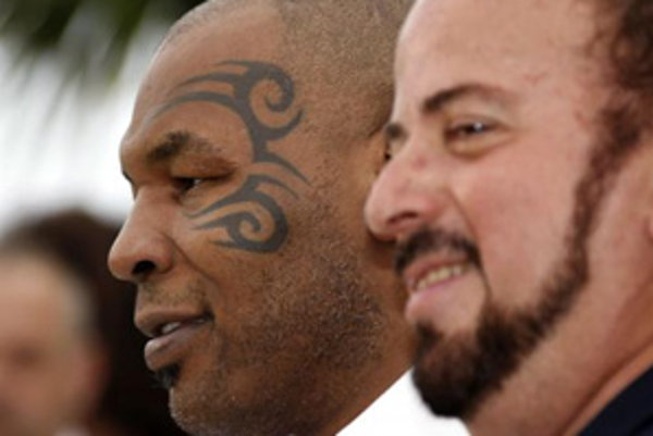 Režisér James Toback (vpravo) a Mike Tyson.
