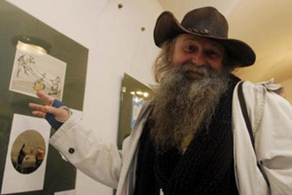 Zlatý Súdok - XIV. ročník medzinárodnej súťaže kresleného humoru na tému pivo vydnotili 1.apríla 2008 v Prešove. Výstava sa koná v priestoroch Šarišskej galérie do 18. mája 2008. Na snímke Henryk Cebula z Poľska, ktorého ocenili Veľkou cenou.