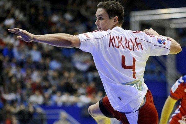 Peter Kukučka počas zápasu za slovenskú reprezentáciu.