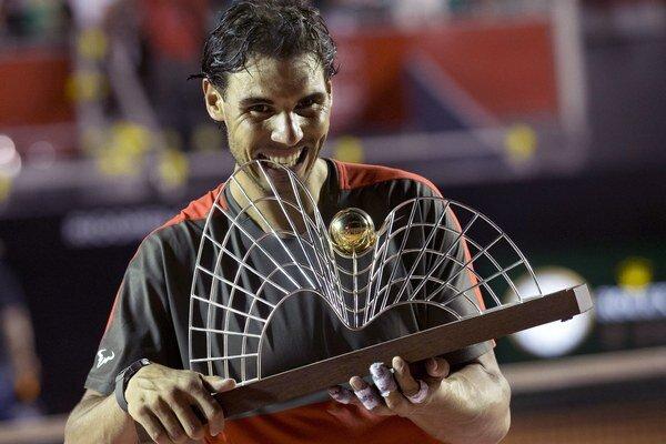 Rafaela Nadal po výhre na turnaji v Riu.