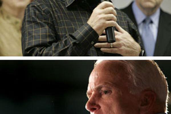Senátor John McCain (dole) pohrozil hercovi Chuckovi Norrisovi, že naňho pošle svoju 95-ročnú mamu.