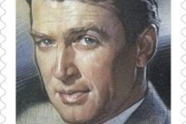 Známka na počesť herca J. Stewarta je navrhnutá podľa plagátu z filmu Strattonov príbeh.