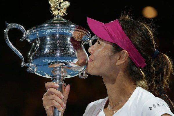 Čínska tenistka Na Li sa v Melbourne tešilla z výhry.