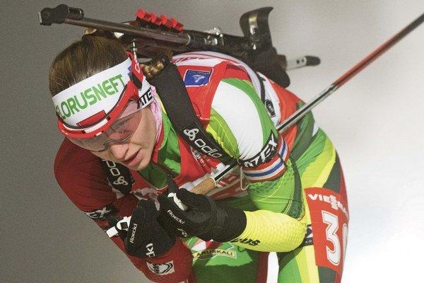 Bieloruská biatlonistka Darja Domračevová.