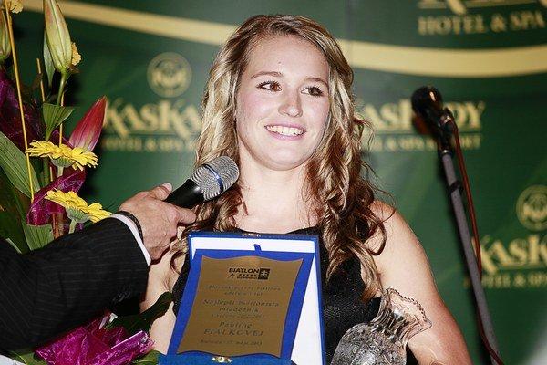 Najlepšia mládežníčka biatlonu Paulína Fialková.