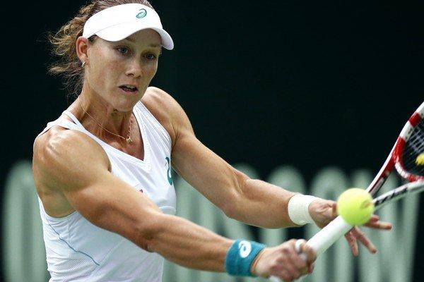 Samantha Stosurová si zahrá semifinále MS WTA v Sofii.
