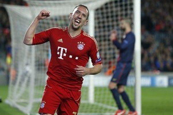 Takto sa Franck Ribéry tešil z gólu Barcelone.