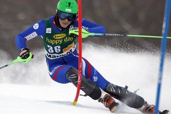 Slovenská slalomárka Petra Vlhová už na seba upozornila počas pretekov Svetového pohára.