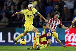 Villareal doma vybojoval len remízu. Fotka zo zápasu s Atléticom Mardid.