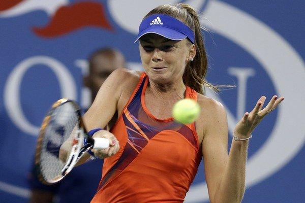 Slovenská tenistka Daniela Hantuchová v zápase proti Bieloruske Victorii Azarenkovej vo štvrťfinále.