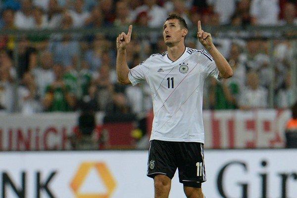 Miroslav Klose v drese nemeckej reprezentácie.