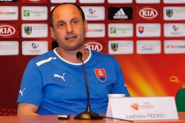 Tréner slovenského tímu Ladislav Pecko.