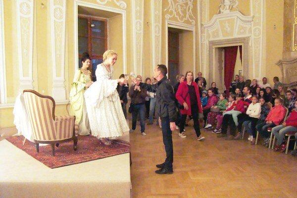 Prípitok s cisárovnou Máriou Teréziou.