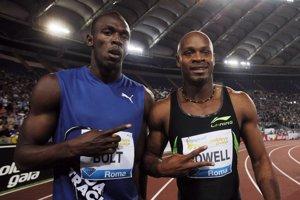 Usain Bolt (vľavo) a Asafa Powell