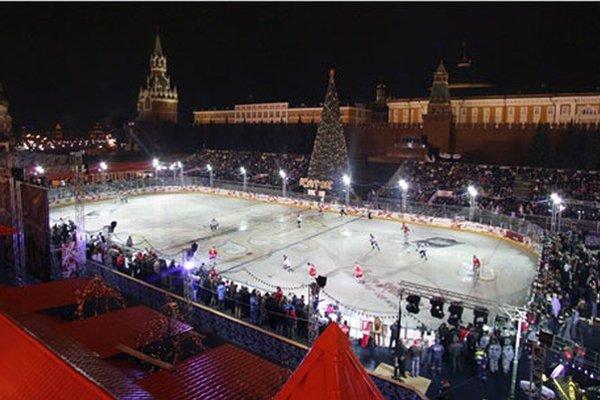 Zápas hviezd KHL v januári 2009 v Moskve.