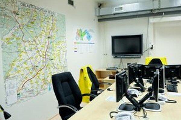 Priestor strediska havarijnej komisie v areáli Atómových elektrární v Jaslovských Bohuniciach.