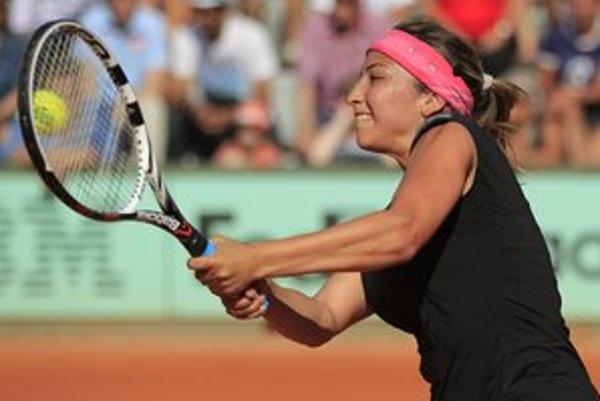 Aravane Rezaiová. Francúzska tenistka bude ťahákom tenisového turnaja.