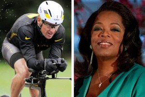 Oprah Winfreyová a Lance Armstrong.
