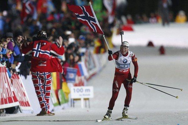 Nórske biatlonistky získali zlato.