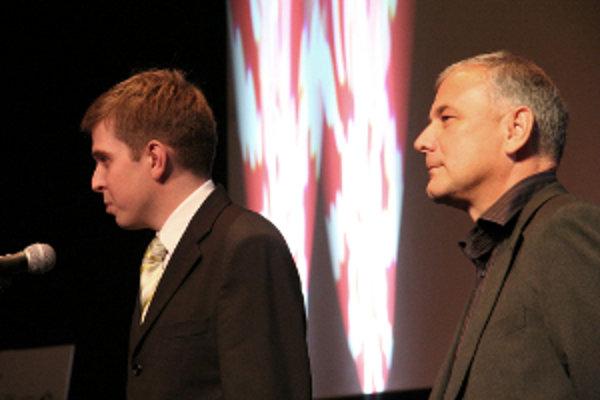 Výkonný riaditeľ MFF Cinematik Tomáš Klenovský (vľavo) a umelecký riaditeľ Vladimír Štric.