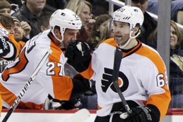 Jaromír Jágr sa štyridsiatky dožíva ako hráč Philadelphie Flyers v NHL.