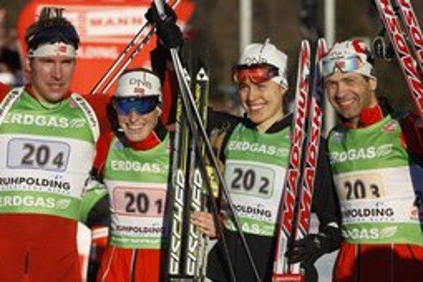 Víťazná nórska štafeta