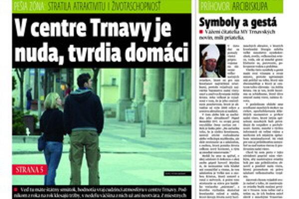 Najnovšie vydanie týždenníka MY- Trnavské noviny.