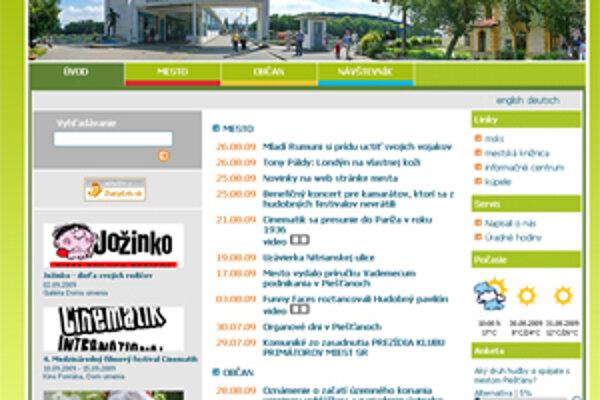 Webová stránka mesta Piešťany.