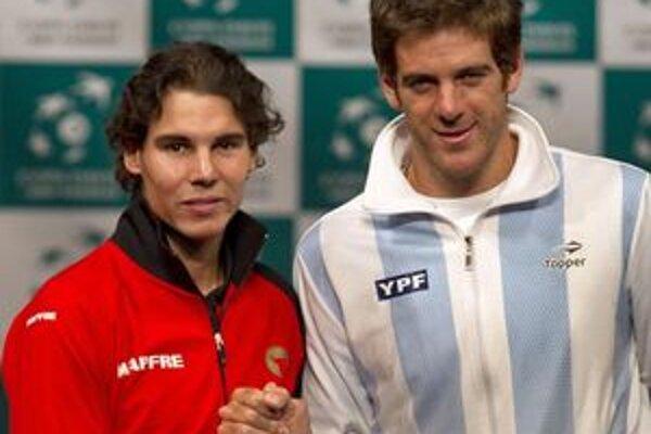 Rafael Nadal a Juan Martin Del Potro