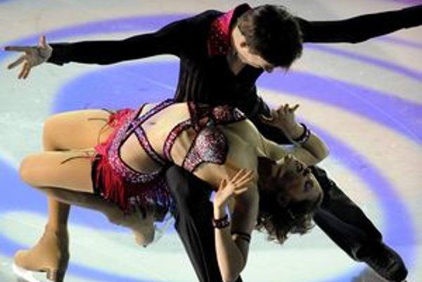 Lukáš Csölley ešte s predchádzajúcou tanečnou partnerkou Češkou Nikolou Višňovou.