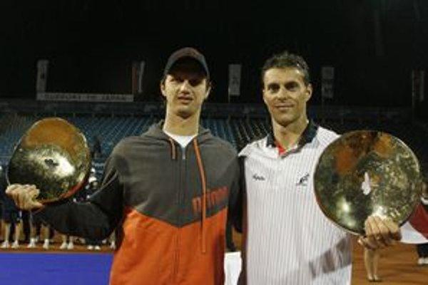 Filip Polášek (vľavo) vyhral s Čechom Františkom Čermákom už tri turnaje.