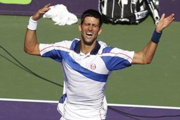 Novak Djokovič po víťazstve v Miami.