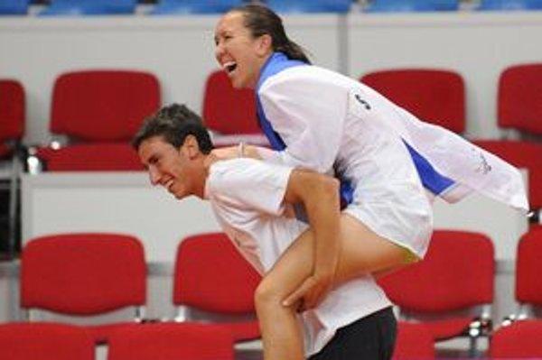 Jelena Jankovičová po rozhodujúcom víťazstve vo štvorhre.