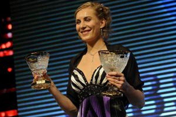 Anastasia Kuzminová na vyhlasovaní Športovca roka.
