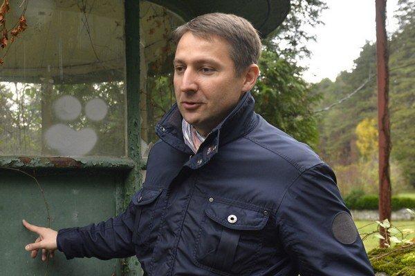 Primátor Trenčianskych Teplíc Štefan Škultéty.