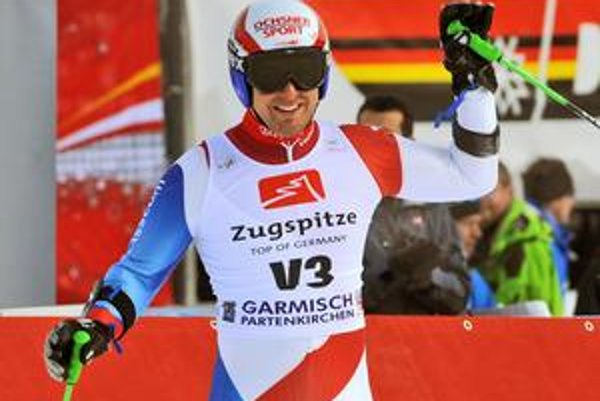 Daniel Albrecht po absolvovaní obrovského slalomu v Garmisch-Partenkirchene.