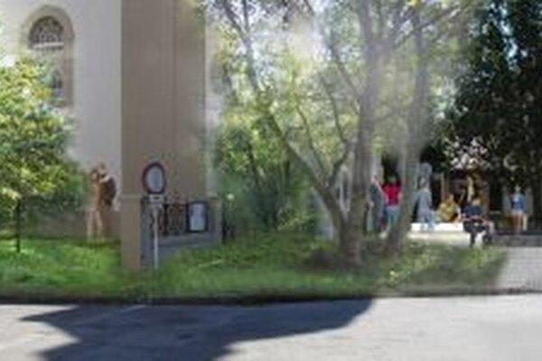 Návrh počíta s dôstojnejším priestorom pred kostolom.