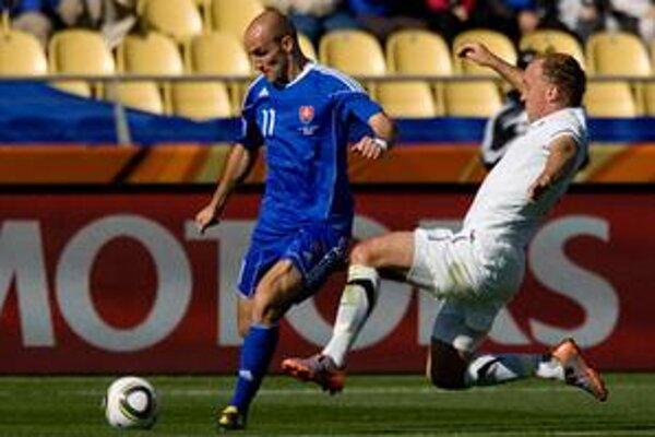 Robert Vittek strelil prvý gól Slovenska na majstrovstvách sveta.