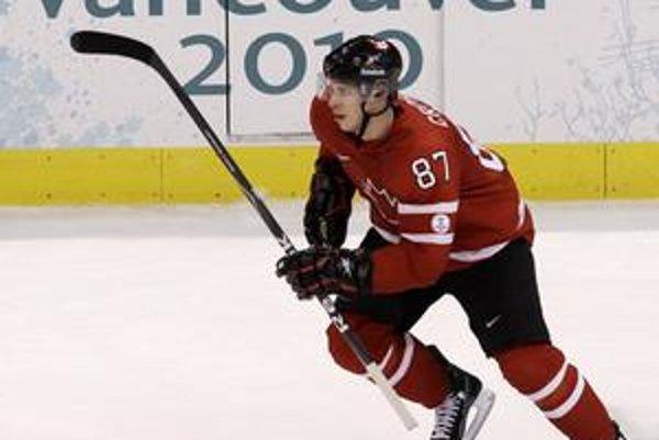 Sidney Crosby na jedinom tréningu Kanady pred olympijským turnajom.