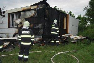 Záhradná chata horela v oblasti Kamenice.