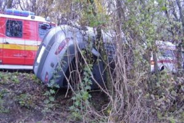 Vodička auta sa pri nehode ľahko zranila.