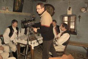 Milan Vrba pri práci na najnovšom filme.
