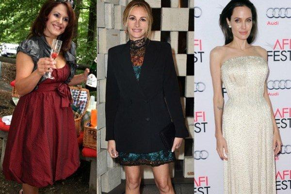 Zľava: Bibiana Ondrejková, Julia Robertsová, Angelina Jolieová
