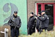 Policajný zásah v Kodani.
