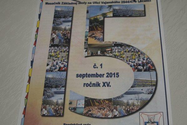 Školský časopis oslavuje 15 rokov