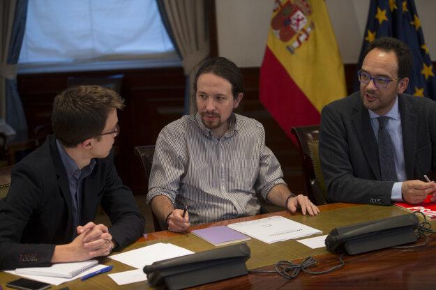 Rokovania medzi stranami Ciudadanos a Podemos.
