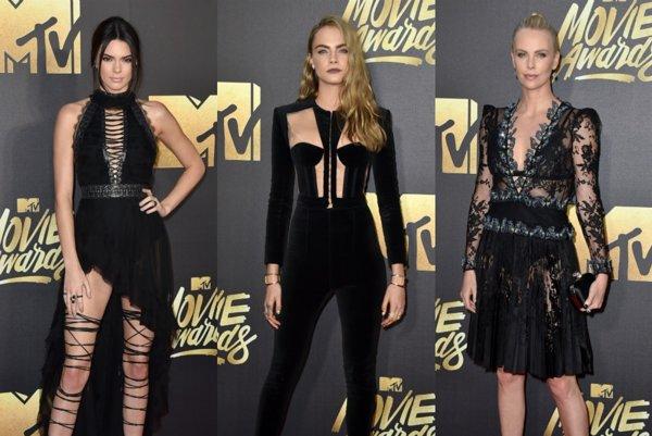 Zľava: Kendall Jennerová, Cara Delevingnová, Charlize Theronová